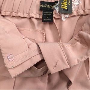 like an angel Pants - NWT pink high waist dress pants, tie front, Medium